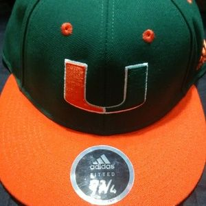Adidas Miami Hurricanes Fitted Hat